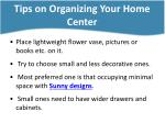 tips on organizing your home center3