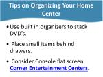 tips on organizing your home center4
