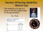 factors affecting solubility henry s law