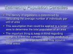 estimating population densities