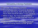 growth limiting factors