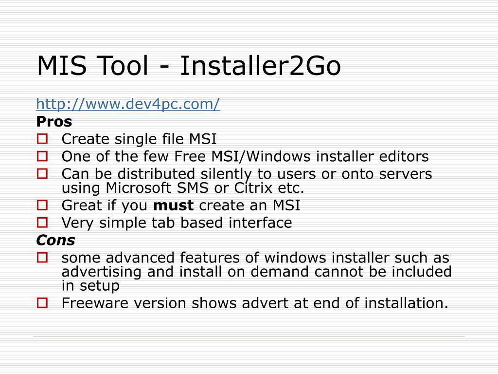 PPT - Installation/Setup creation tools PowerPoint Presentation - ID
