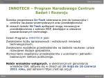 innotech program narodowego centrum bada i rozwoju1