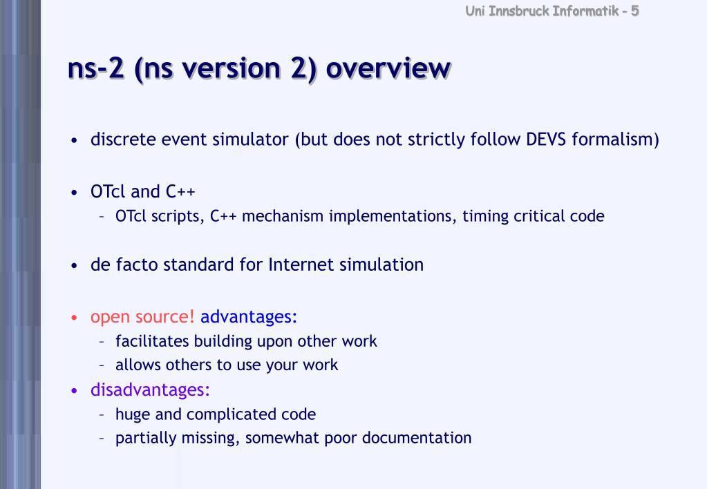 PPT - Tutorial: The ns-2 Network Simulator PowerPoint Presentation