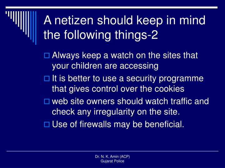 A netizen should keep in mind the following things-2