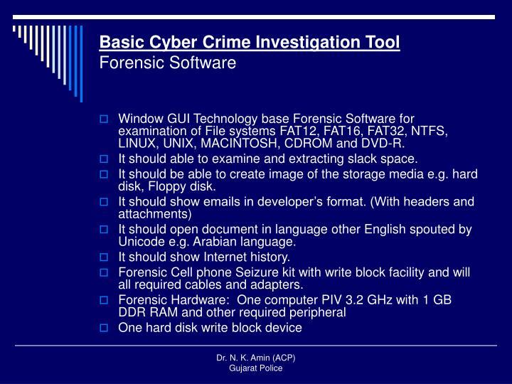 Basic Cyber Crime Investigation Tool