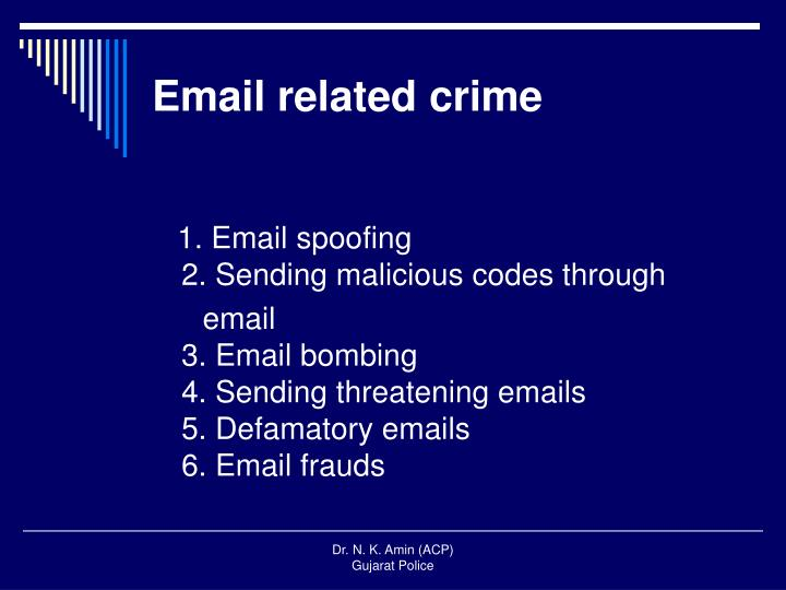 Email related crime