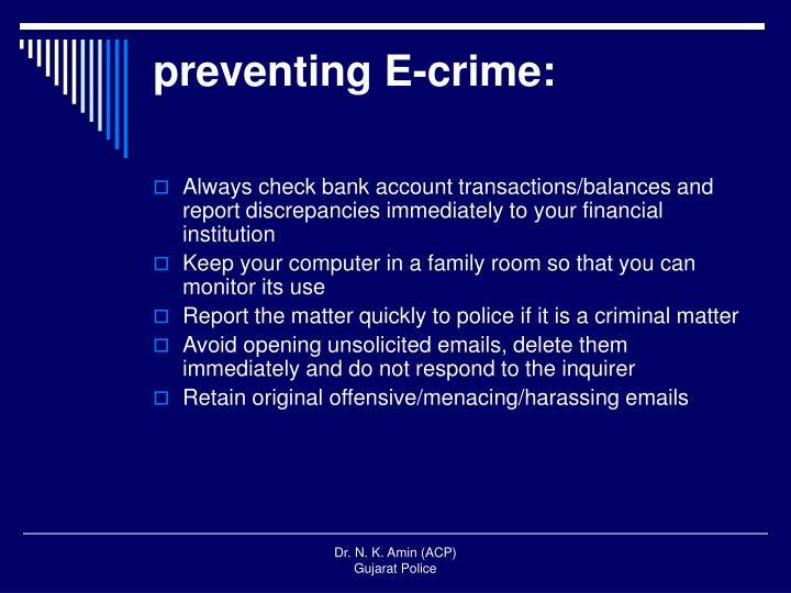 preventing E-crime: