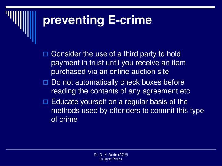 preventing E-crime