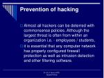 prevention of hacking