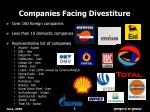 companies facing divestiture