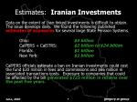 estimates iranian investments