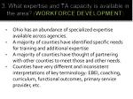 3 what expertise and ta capacity is available in the area workforce development