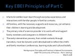 key ebei principles of part c