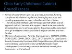 ohio early childhood cabinet council 2010