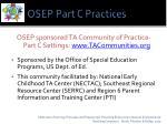 osep part c practices
