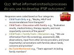 q27 what information tools processes do you use to develop ifsp outcomes