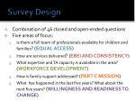 survey design