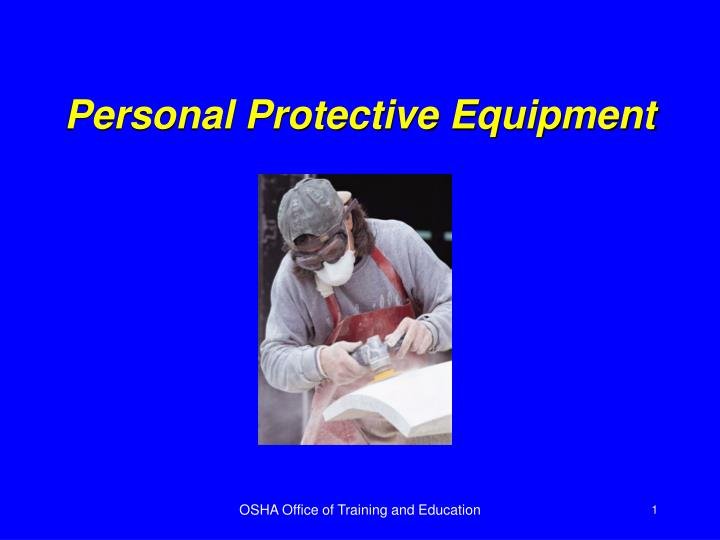 personal protective equipment n.