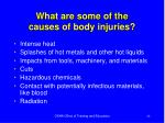 what are some of the causes of body injuries