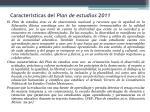 caracter sticas del plan de estudios 2011