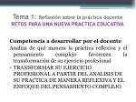 tema 1 reflexi n sobre la pr ctica docente retos para una nueva practica educativa