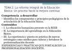 tema 2 la reforma integral de la educaci n b sica un proceso hacia la mejora continua