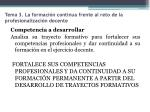 tema 3 la formaci n continua frente al reto de la profesionalizaci n docente