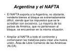 argentina y el nafta