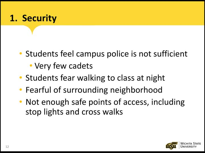 1.  Security