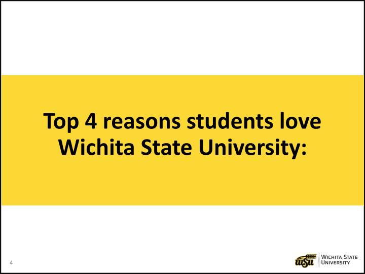 Top 4 reasons students love Wichita State University: