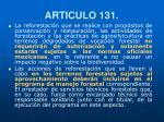 articulo 131