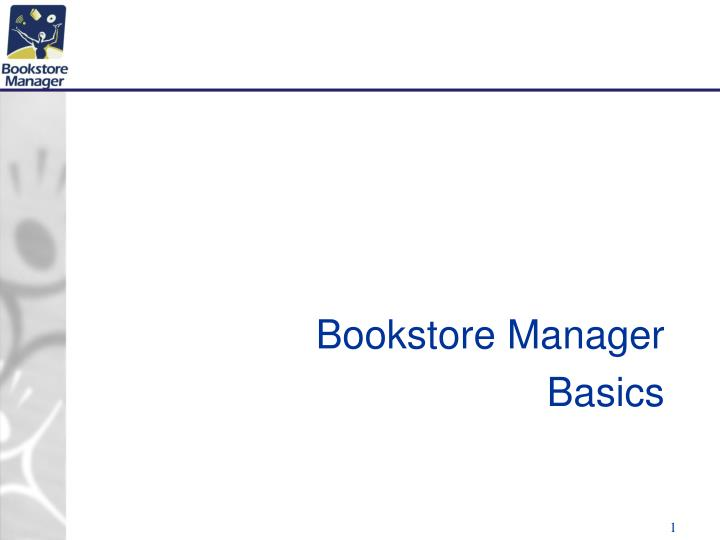bookstore manager basics n.