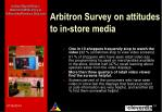arbitron survey on attitudes to in store media1