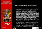 imtv system key to mutual benefits