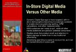 in store digital media versus other media