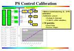 ps control calibration