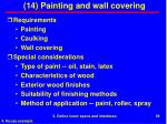 14 painting and wall covering
