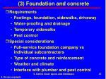 3 foundation and concrete