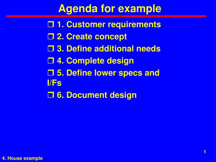 agenda for example n.