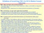 definitions of second stage trl s for dcll blanket concept subsystem