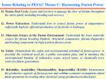 issues relating to fesac theme c harnessing fusion power