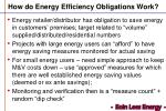 how do energy efficiency obligations work