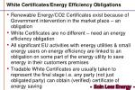 white certificates energy efficiency obligations