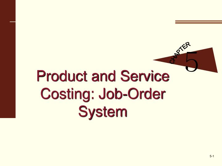 product and service costing job order system n.