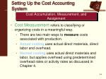 setting up the cost accounting system1