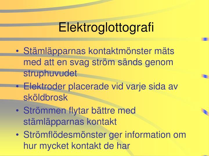 Elektroglottografi