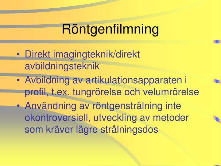 Röntgenfilmning