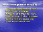 area contingency plans cont