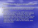 incident specific preparedness review